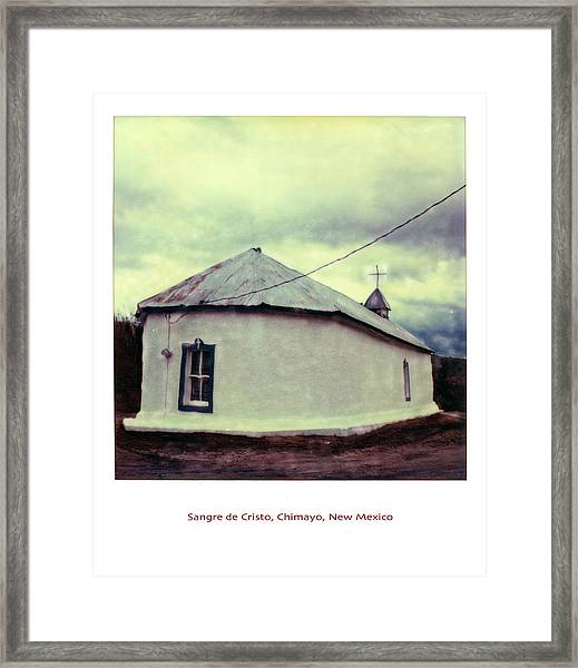 Framed Print featuring the photograph Polaroid Sx-70 Hand Manipulated 3 by Catherine Sobredo