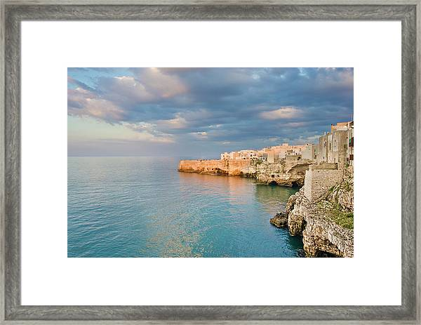 Polignano A Mare On The Adriatic Sea Framed Print