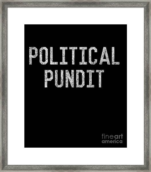 Framed Print featuring the digital art Political Pundit Vintage by Flippin Sweet Gear