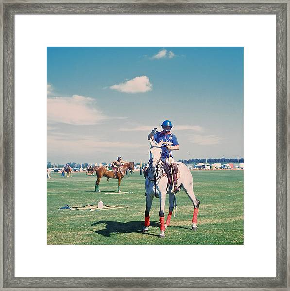 Polo In Florida Framed Print by Slim Aarons