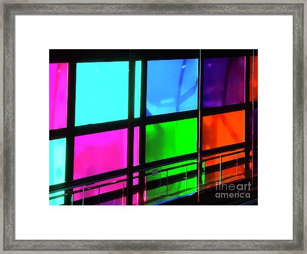 Polychrome Passageway Framed Print