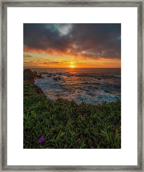 Pomo Bluffs Sunset - 2 Framed Print