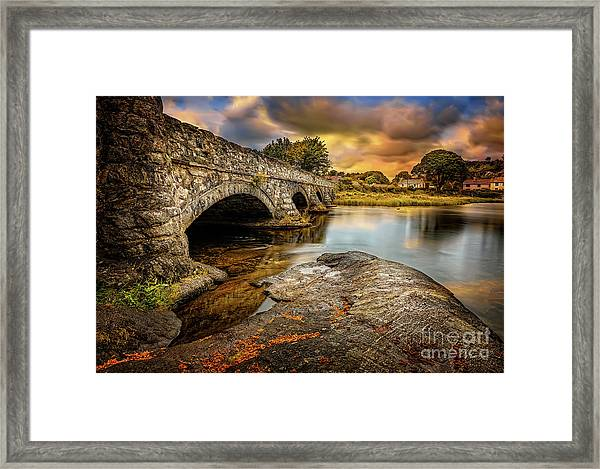 Pont Pen-y-llyn Bridge Snowdonia Framed Print
