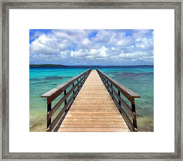 Pontoon New Caledonia Framed Print by Vincent Jary