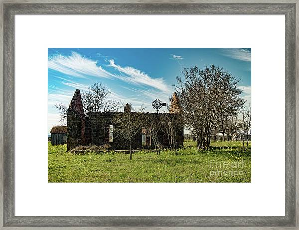 Pontotoc House Ruins Framed Print by Elijah Knight