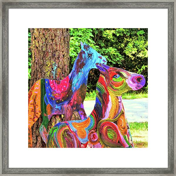 Pony Art   Framed Print