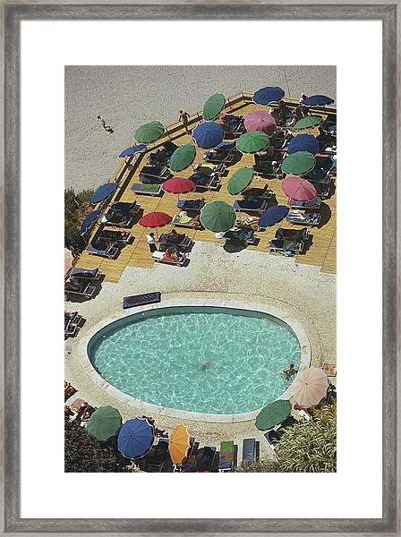 Pool At Carvoeiro Framed Print