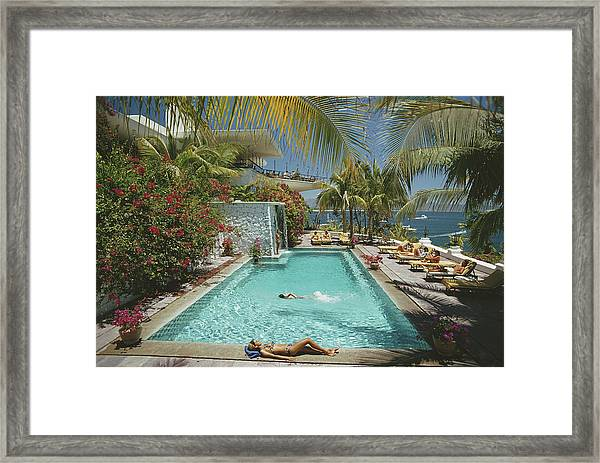Pool At Las Hadas Framed Print
