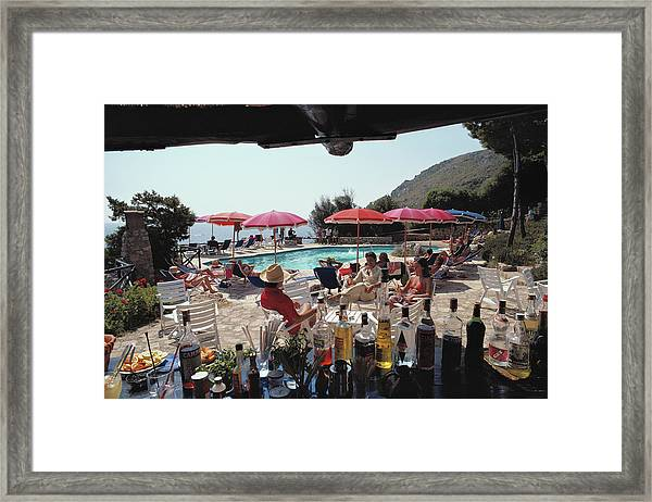 Poolside Bar Framed Print