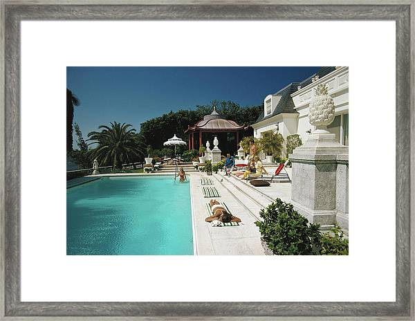 Poolside Chez Holder Framed Print