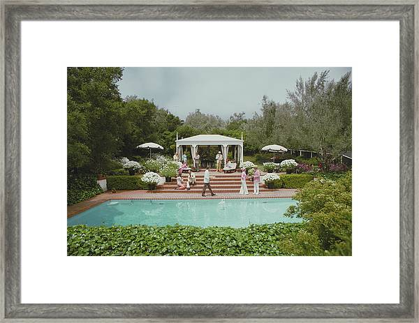 Poolside Drinks Framed Print