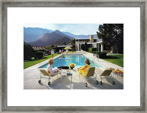 Poolside Glamour Framed Print