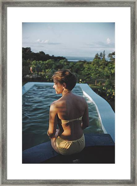 Poolside In Kenya Framed Print