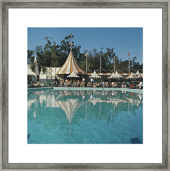 Poolside Reflections Framed Print