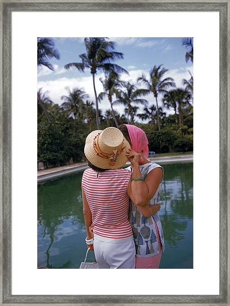 Poolside Secrets Framed Print