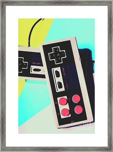 Pop Artcade Framed Print