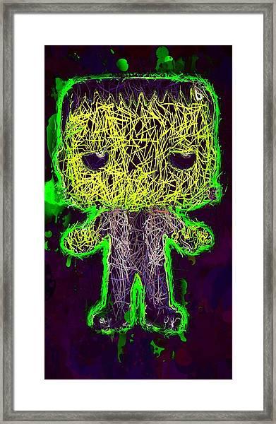 Frankenstein Pop 2 Framed Print
