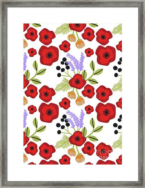 Poppy Print Framed Print