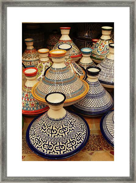 Porcelain Tagine Cookers  Framed Print