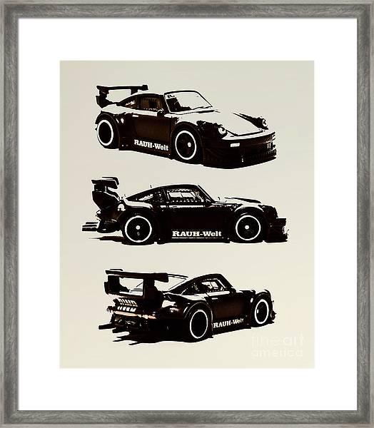Porsche Rwb 930 Framed Print
