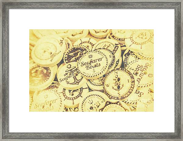 Port Holes And Anchor Buttons Framed Print