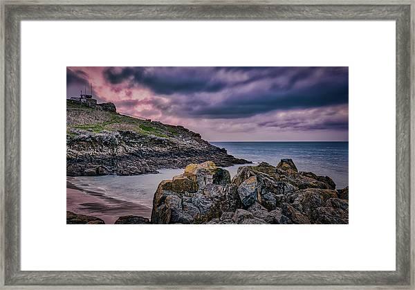 Porthgwidden Dramatic Sky Framed Print