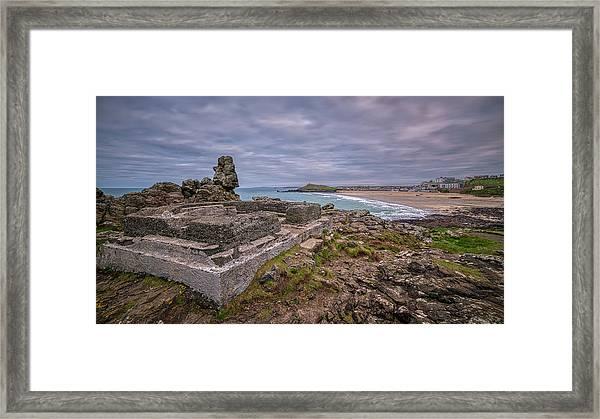 Porthmeor Beach January View Framed Print