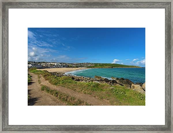 Porthmeor Beach - St Ives Cornwall Framed Print