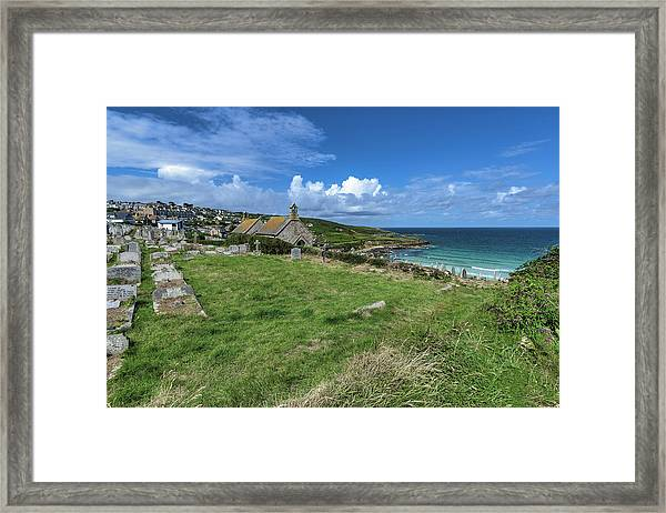 Porthmeor From Barnoon - St Ives Cornwall Framed Print