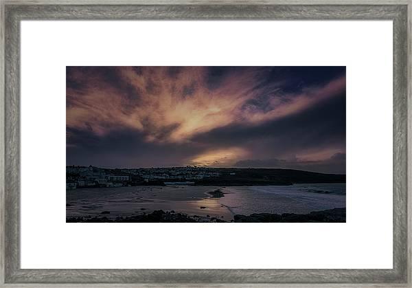 Porthmeor Sunset 4 Framed Print
