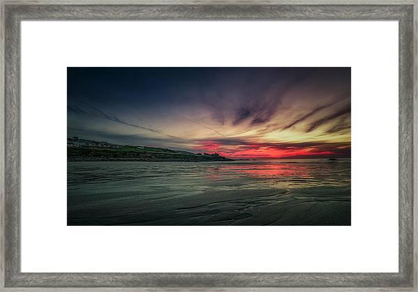 Porthmeor Sunset Version 2 Framed Print