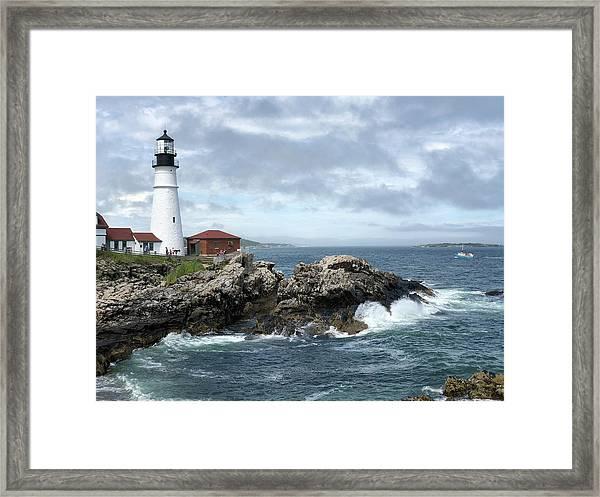 Portland Head Light House Framed Print