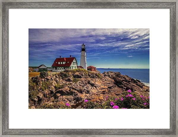 Portland Head Lighthouse Framed Print by Andrew Soundarajan