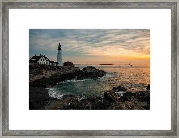 Portland Head Sunrise Final Framed Print