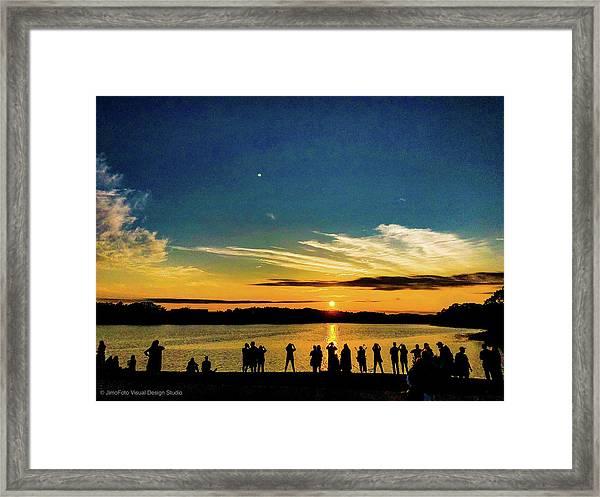 Portland Pauls Sunset Framed Print