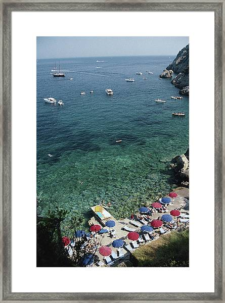 Porto Ercole Beach Framed Print by Slim Aarons
