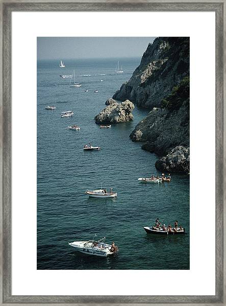 Porto Ercole Boats Framed Print by Slim Aarons
