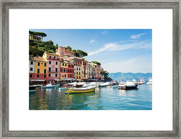 Portofino, Liguria, Italy Framed Print