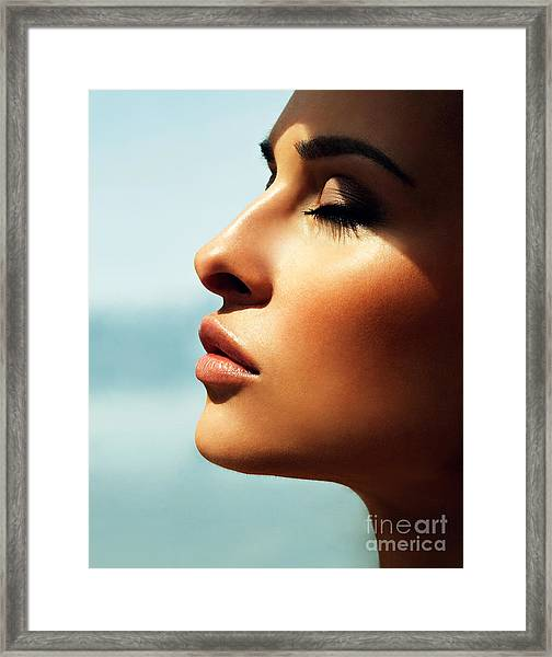 Portrait Of A Beautiful Girl Framed Print