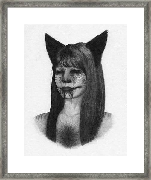 Portrait Of A Kumiho - Artwork Framed Print