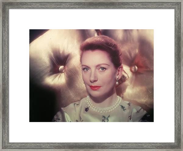 Portrait Of Actor Deborah Kerr Framed Print