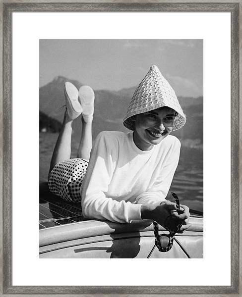 Portrait Of Audrey Hepburn Framed Print by Pictorial Parade