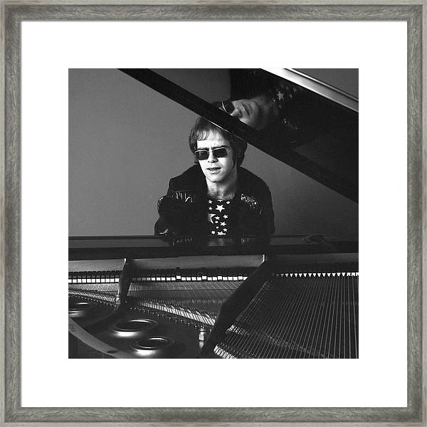 Portrait Of Elton John Framed Print