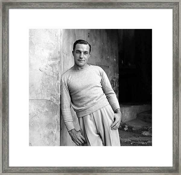 Portrait Of Gene Kelly Framed Print by Alfred Eisenstaedt