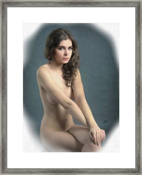 Portrait Of Girl Au Naturel - Dwp2655644 Framed Print