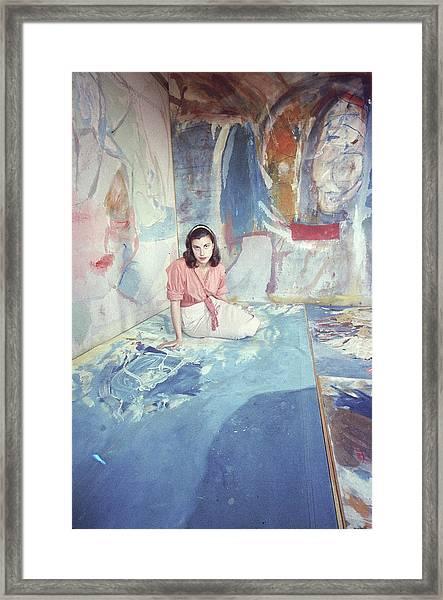Portrait Of Helen Frankenthaler Framed Print by Gordon Parks