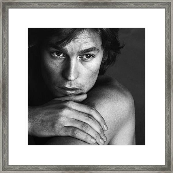 Portrait Of Helmut Berger Framed Print