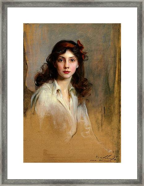 Portrait Of Princess Xenia Georgievna Framed Print