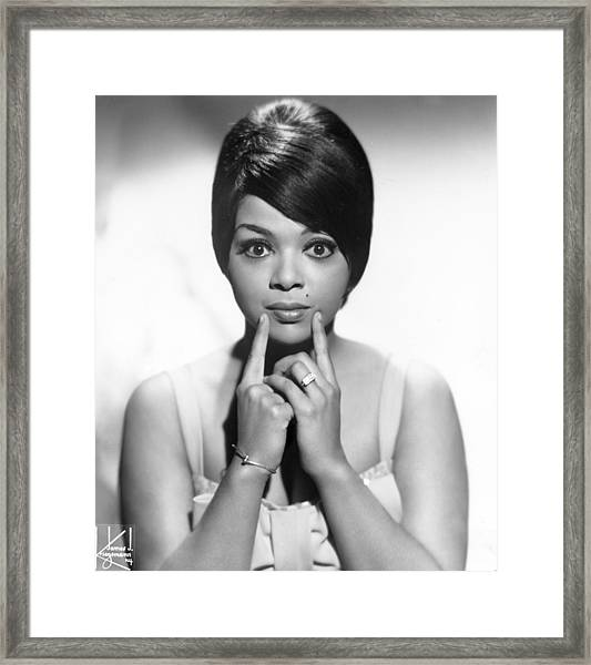 Portrait Of Tammi Terrell Framed Print