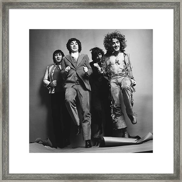 Portrait Of The Who Framed Print by Jack Robinson